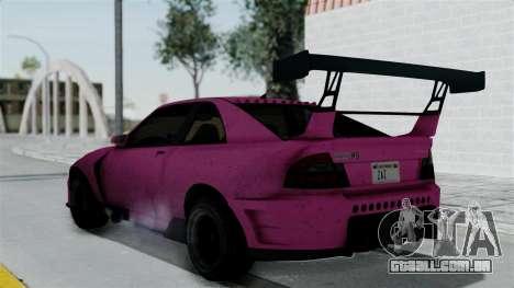 GTA 5 Karin Sultan RS Drift Double Spoiler para GTA San Andreas esquerda vista