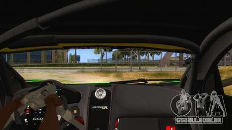 McLaren 650S GT3 Alien PJ para GTA San Andreas vista interior
