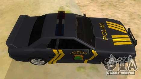 Elegy NR32 Police Edition Grey Patrol para GTA San Andreas vista interior