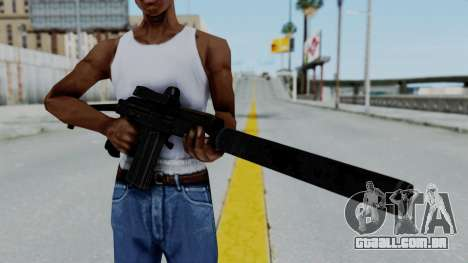 9A-91 Kobra and Suppressor para GTA San Andreas terceira tela