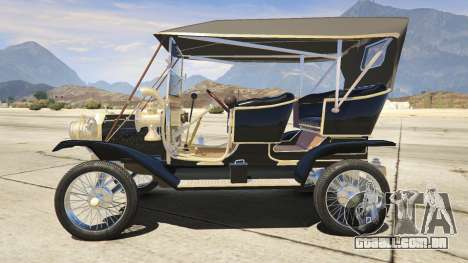 GTA 5 Ford T 1910 Passenger Open Touring Car vista lateral esquerda