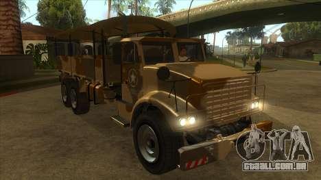 GTA V HVY Barracks OL para GTA San Andreas vista traseira