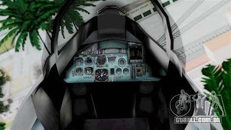 SU-37 Indian Air Force para GTA San Andreas vista direita