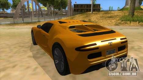 GTA 5 Truffade Adder para GTA San Andreas traseira esquerda vista