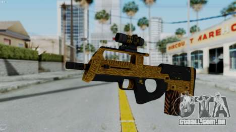 GTA 5 Online Lowriders DLC Assault SMG para GTA San Andreas segunda tela