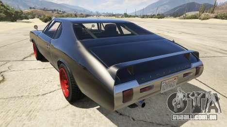 GTA 5 Death Proof Stallion traseira vista lateral esquerda
