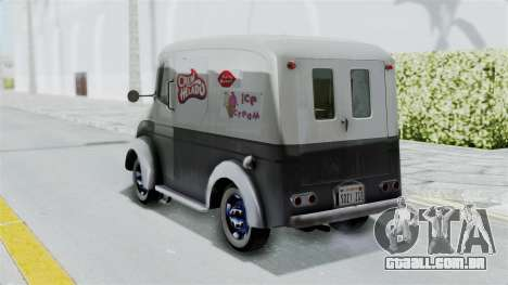 Divco 206 Milk Truck 1949-1955 Mafia 2 para GTA San Andreas esquerda vista