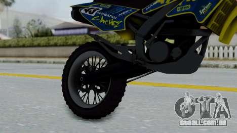 GTA 5 Atomic Sanchez para GTA San Andreas vista direita