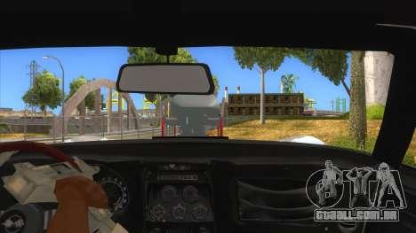 1968 Chevrolet Corvette Stingray Monster Truck para GTA San Andreas vista interior