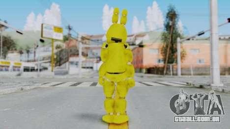 FNAF Spring Bonnie para GTA San Andreas terceira tela