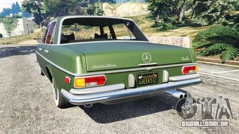 GTA 5 Mercedes-Benz 300SEL 6.3 1972 traseira vista lateral esquerda