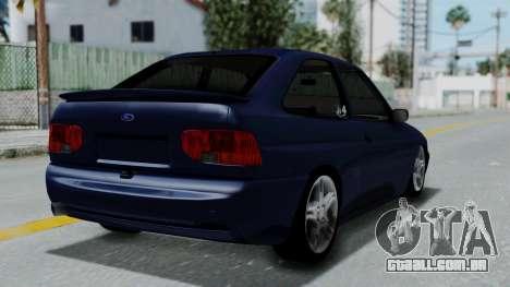 Ford Escort para GTA San Andreas esquerda vista