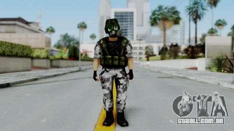 Shephard from Half-Life Opposing Force para GTA San Andreas segunda tela