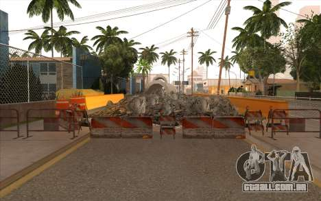O trabalho de reparação Grove Street para GTA San Andreas nono tela