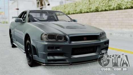 Nissan Skyline GT-R R34 2002 F&F4 para GTA San Andreas