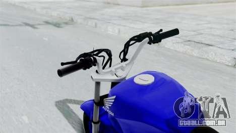 Honda CG Titan 2014 Stunt para GTA San Andreas vista traseira