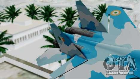 SU-37 Indian Air Force para GTA San Andreas traseira esquerda vista
