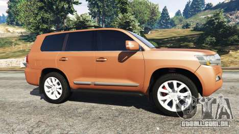 GTA 5 Toyota Land Cruiser 200 2016 vista lateral esquerda