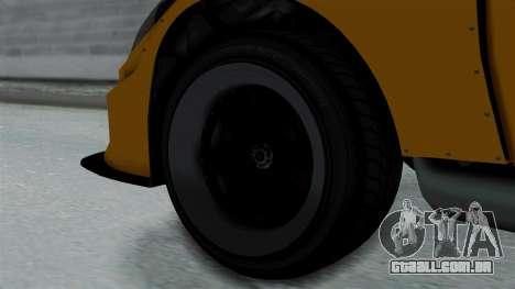 GTA 5 Karin Sultan RS Drift Big Spoiler PJ para GTA San Andreas traseira esquerda vista