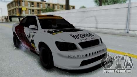 GTA 5 Karin Sultan RS Drift Big Spoiler PJ para GTA San Andreas vista superior