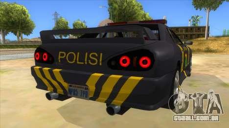 Elegy NR32 Police Edition Grey Patrol para GTA San Andreas vista direita