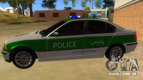 BMW Iranian Police para GTA San Andreas esquerda vista