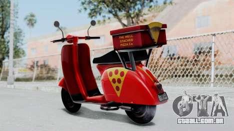 GTA 5 Pizza Boy para GTA San Andreas esquerda vista
