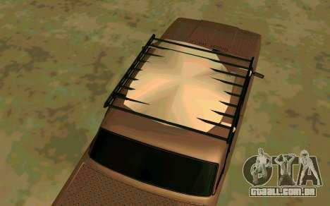 VAZ 2107 de Inverno para GTA San Andreas traseira esquerda vista