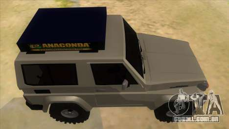 Toyota Machito 4X4 para GTA San Andreas vista interior