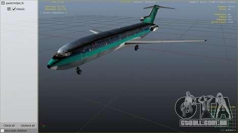 GTA 5 Boeing 727-200 sexta imagem de tela