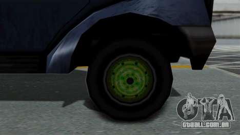 Yankee with StickerBombing para GTA San Andreas traseira esquerda vista