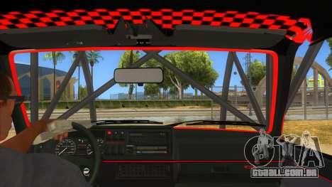 Volkswagen Golf MK2 RollGolf para GTA San Andreas vista interior