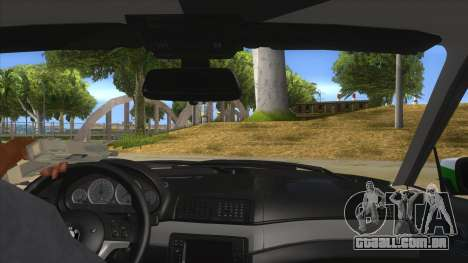 BMW Iranian Police para GTA San Andreas vista interior
