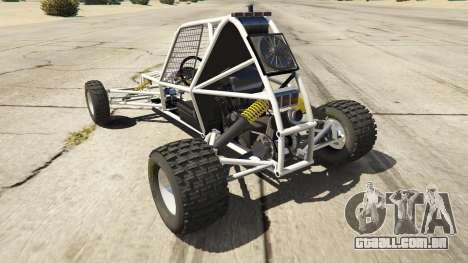 GTA 5 Kart Cross traseira vista lateral esquerda