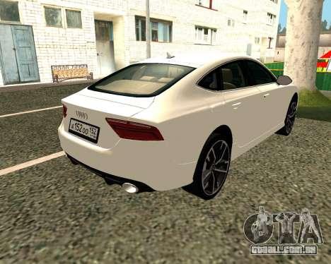 Audi RS7 Quattro para GTA San Andreas vista direita