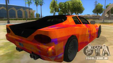 GTA 3 Cheetah ZTR para GTA San Andreas vista traseira