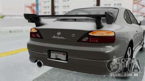 Nissan Silvia S15 Spec-R 2000 para GTA San Andreas vista superior