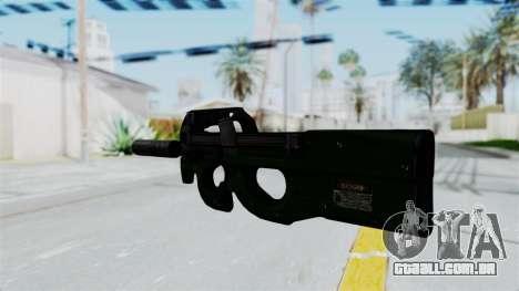P90 Green para GTA San Andreas segunda tela