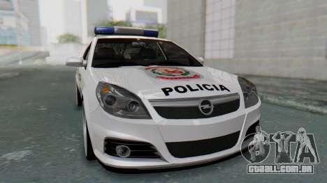 Opel Vectra 2005 Policia para GTA San Andreas vista direita