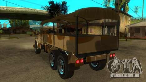 GTA V HVY Barracks OL para GTA San Andreas traseira esquerda vista