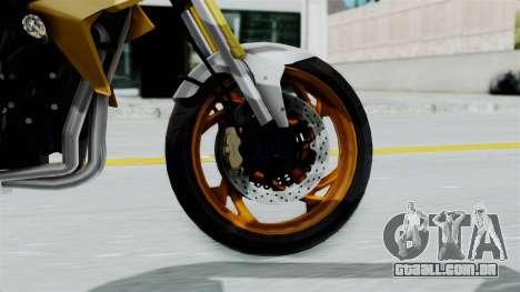 Honda CB1000R v2 para GTA San Andreas traseira esquerda vista