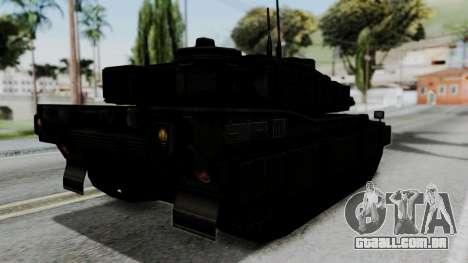 Point Blank Black Panther Woodland IVF para GTA San Andreas esquerda vista