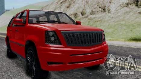 GTA 5 Albany Cavalcade v2 para GTA San Andreas