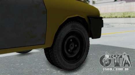 Dacia 1325 Liberta Rusty para GTA San Andreas traseira esquerda vista