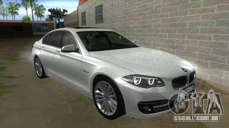 BMW 530XD F10 para GTA San Andreas vista interior