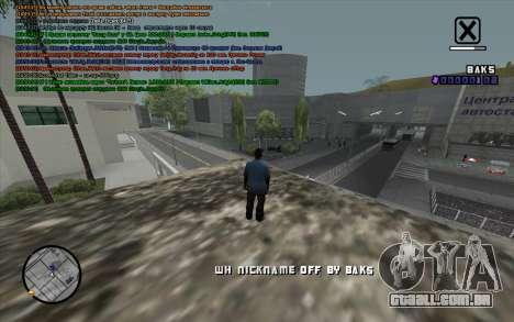 WH Nick Name para GTA San Andreas terceira tela