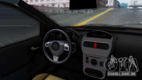 Opel Corsa C Policia para GTA San Andreas vista traseira