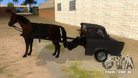 Trabant with Horse para GTA San Andreas esquerda vista