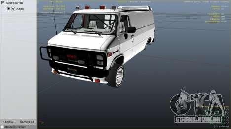 GTA 5 GMC Vandura (A-Team Van) vista lateral direita