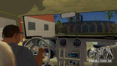 HUMMER H2 Firetruck para GTA San Andreas vista interior